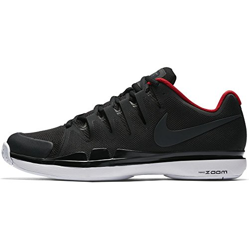 Herren Nike Zoom Vapor 9.5 Tour Tennisschuhe (Winter 2017 Farben) Schwarz / Anthrazit / Weiß / Uni Rot