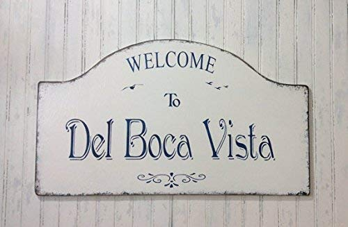 Emily Del Boca Vista Sign Personalized Home Sign Name Your Own Home Sign Florida Getaway Sign Retirement Decor Snowbird Sign Father