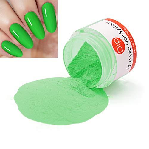 Lime Green Powder - Lime Green Dipping Powder (Added Vitamins) I.B.N Nail Dip Acrylic Powder, 1 Ounce (DIP 040)