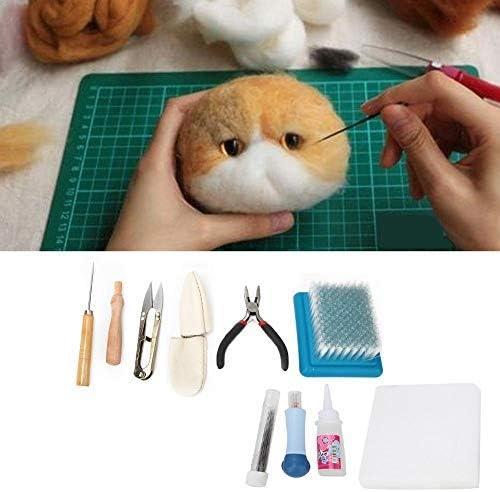 Juego de herramientas de fieltro de lana, kit de fieltro de aguja de fieltro de aguja
