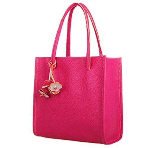 ZARU Mädchen Handtaschen Leder-Umhängetasche Süßigkeiten Farbe Pink 2FQDsma