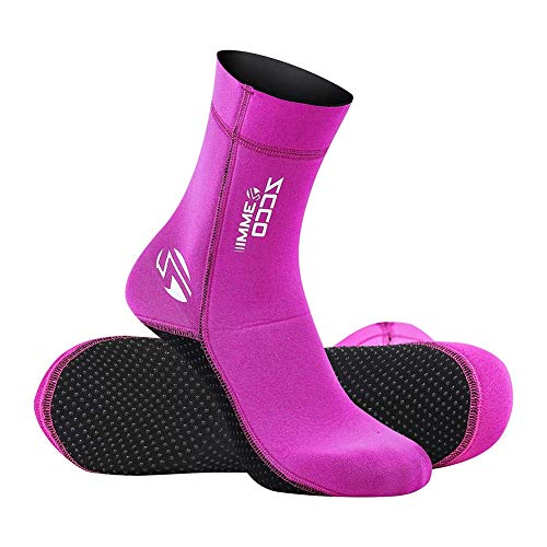 Neoprene Socks Diving Scuba Socks Wetsuit Fin Booties for Men Women Kids, 3MM 5MM Surfing Booties Beach Socks Thermal Flexible Anti Slip for Rafting Snorkeling Swimming Wading Sailing (3mm Pink, S)