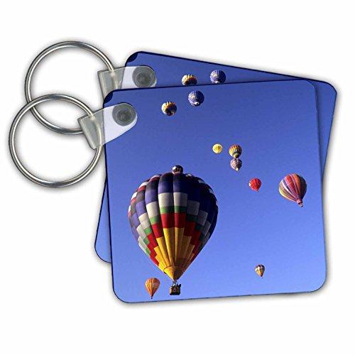 Hot air balloons, Albuquerque, New Mexico - Key Chains, 2.25 x 2.25 inches, set of 2 - Shops Albuquerque Gift
