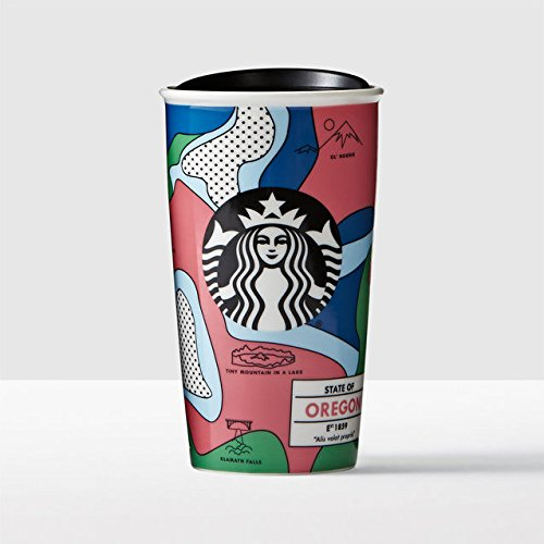 RARE FIND Starbucks Oregon Local Collection Double Wall Traveler 12oz by Starbucks