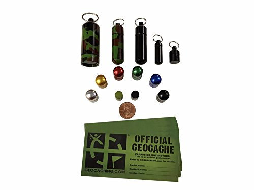 Combo Pack Geocaching Containers Small Micro Bison Tubes Combo Pack ()