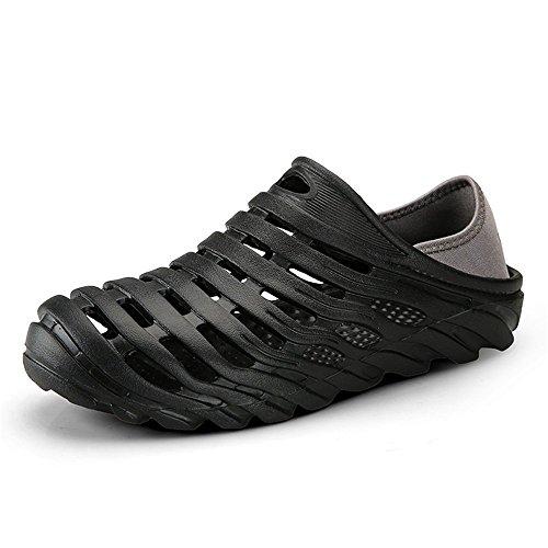 para del Hombres Las Zapatos de Correa y Son y tiran Frescas Zuecos la talón los del elástico arrastran de los Dos de Ocasionales de los Sandalias a Agua Azul Veces resbalones Prueba Transpirables rwrqAYp