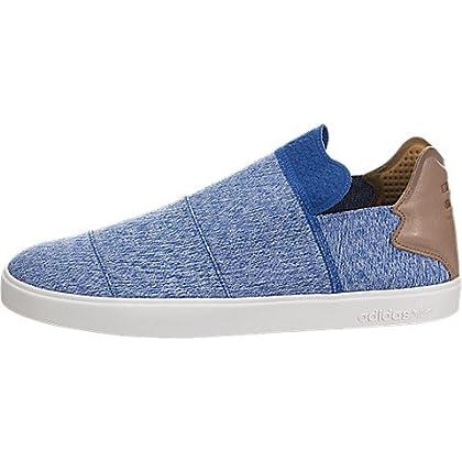 new product d76b7 db60b adidas x Pharrell Williams Men Vulc Slip-On (BlueClear GreyChalk White)