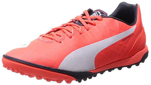 Puma evoSPEED 4.4 TT, Herren Fußballschuhe, Orange (lava blast-white-total eclipse 01), 44.5 EU (10 Herren UK)