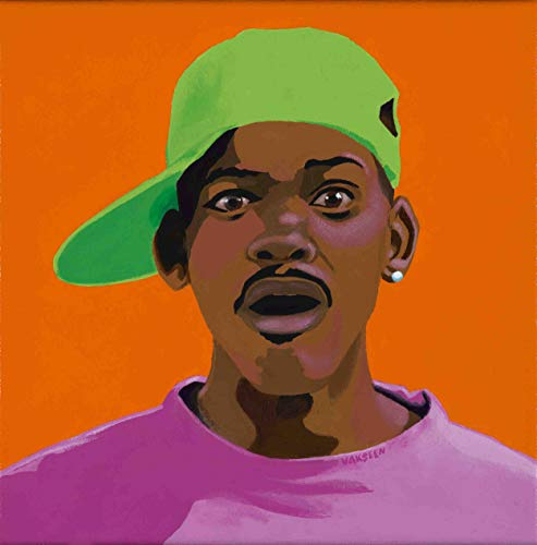 Vakseen Art - FRESHHH - Fresh Prince of Bel Air portrait art - Will Smith Art - Limited Edition Giclee Print & Framed Pop Art for Wall Decor