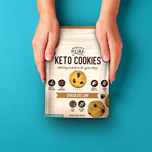 Proudly Pure Mini Bite Size On the Go 3 Pack Keto Cookie Chocolate Chip Snacks - Healthy Low Carb, Diet Friendly, Tasty and Delicious Gluten Free Food Treats Made With Real All Natural Ingredients 6