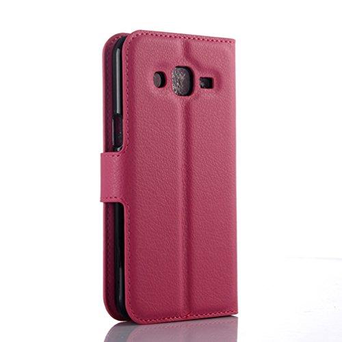 Funda Samsung Galaxy J3(2016),Manyip Caja del teléfono del cuero,Protector de Pantalla de Slim Case Estilo Billetera con Ranuras para Tarjetas, Soporte Plegable, Cierre Magnético(JFC8-16) I