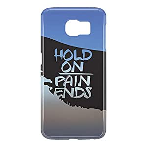 Loud Universe Samsung Galaxy S6 3D Wrap Around Hold on Pain Ends Print Cover - Multi Color