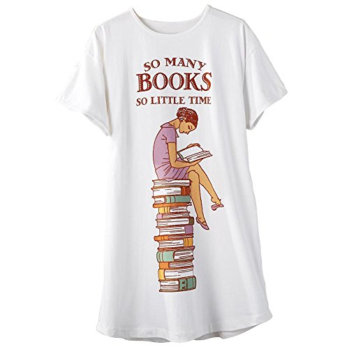 - Relevant Women's So Many Books So Little Time Sleepshirt White