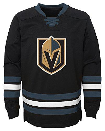 Outerstuff NHL Vegas Golden Knights Youth Boys Classic Hockey Crew, Medium(5-6), Black