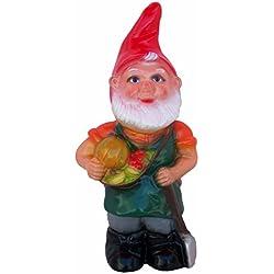 """Rakso Harvest Market Gnome, 17"""", Large UV Resistant Lawn Ornament"""