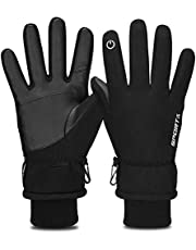 Yobenki Thermal Gloves, Winter Gloves for Men Women Touchscreen GlovesWarm Cold Weather Gloves for Cycling Driving Running Camping Hiking