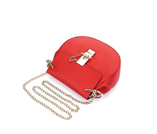 Colore Casuale Keral Crossbody Elegante Grande Pu Pelle Borse Puro Donne Rosso xYSCqO4wp