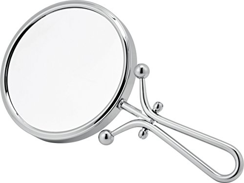 Linos- Chrome Freestanding or Hand Held Vanity Mirror 3x Magnification by Showerdrape by Showerdrape