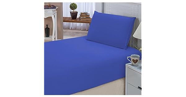 fa456a5d24 Jogo de Lençol Solteiro Padrão Liso Pati 02 Peças Tecido Microfibra - Azul  Royal  Amazon.com.br  Cozinha