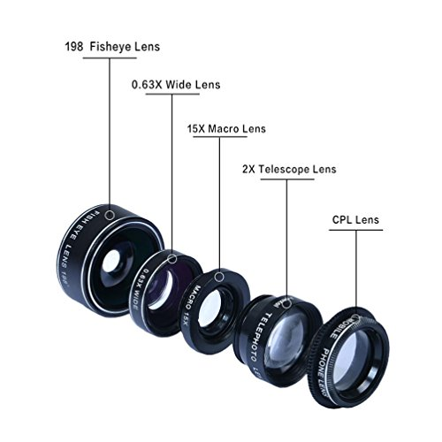 HD Camera Lens Kit 5 in 1 for iP...