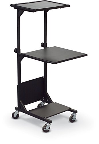 Balt 81052 PBl Sit Stand AV Cart, 2 Shelves, 41.5