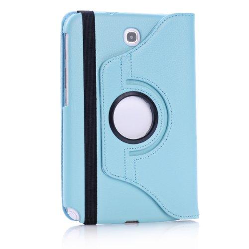 Foxnovo® Samsung Galaxy Tab PU Leather Case & Stylus Pen & Screen Guard & Cloth Set (Samsung Galaxy Note 8.0 N5100 / N5110 / N5120, Sky-blue)