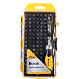 Bratsk Ratcheting Screwdriver Set with Case Professional 58 in 1 Ratchet Driver Repair Tool Kit Apply to Phone Watch Laptop Electronic Devices and Household Repair