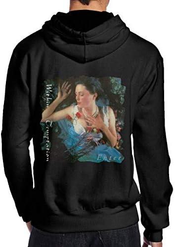 bianlidian Männer Hoodies,Herren Neuheit Hoodies Within Temptation Men's Classic Long Sleeve Fleece Sweater Sports Pullover Black
