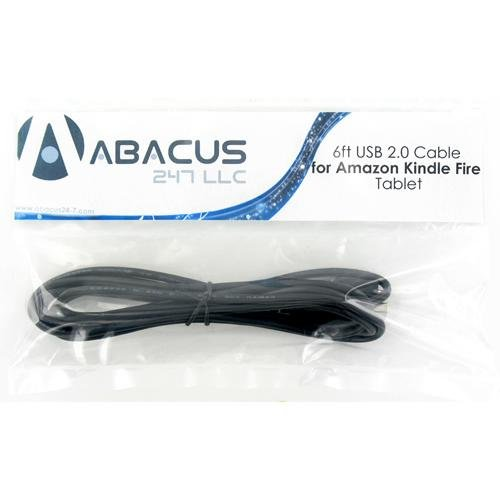 6ft Brand NEW Sync/Charge Micro USB Data Cable for Amazon Kindle Fire / HP TouchPad Tablet PC - Abacus24-7 Brand
