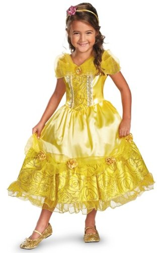 Disguise Disney's Beauty and The Beast Belle Sparkle Deluxe Girls Costume, -