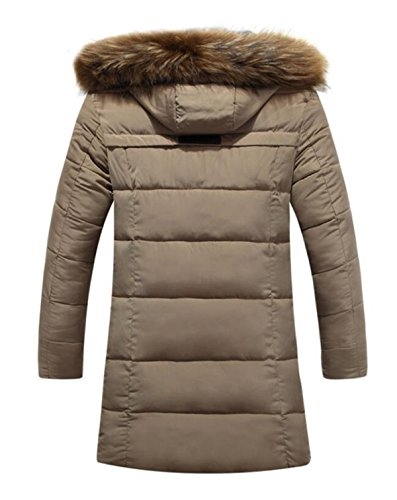 Thick LINYI Brown Young Fur Padded Down Long Cotton New Collar Winter Padded Cotton wwTq07Rr