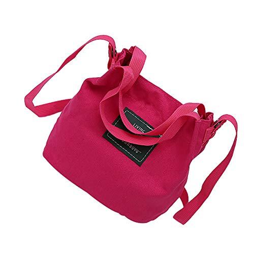 Al Rojo Mujer De Lona Para Bolso Cplapll Rosado Rosa Hombro TqRw5AO8x