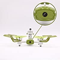 Hanbaili W2 Four Axis Drone with Standing Doll,0.3MP WIFI Camera APP Control Real-time Transmission,3D Rollover,Gravity Induction,Trajectory Flight,Drone for Kids