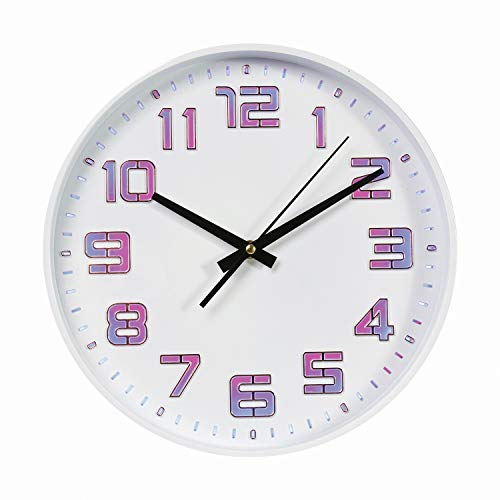 WHAT ON EARTH LED Color Changing Wall Clock - Includes Remote, USB and Wall Charging Cable - 12