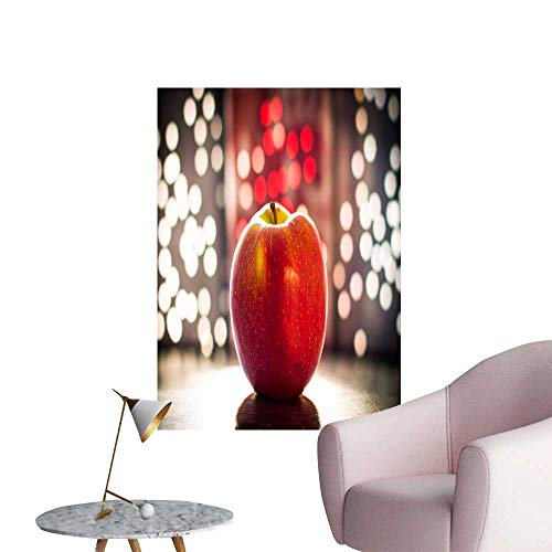 "SeptSonne Modern Painting The Apple is Independent in Front of The neon lamp Home Decoration,32"" W x 56"" L"