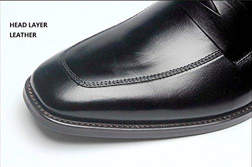 Red Hommes Unie En Hommes Chaussures LINYI Cuir Couleur Nouveaux Carré Haut D'affaires Petit De De Gamme xOAZa