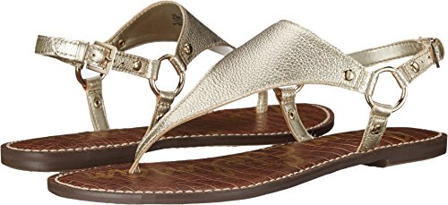 Sam Edelman Women's Greta Sandal, Jute Metallic Leather, 9 M US