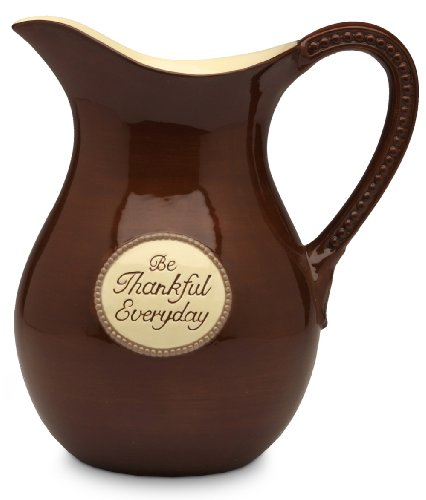 Shared Blessings Be Thankful 9-1/2-Inch H Pitcher