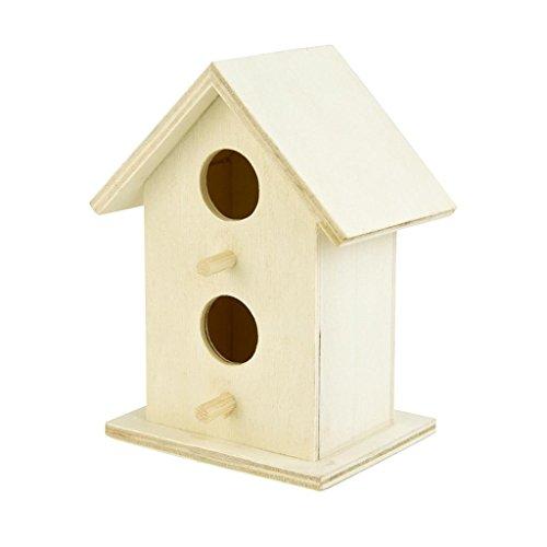Morrivoe Wooden Birdhouse Casa de Madera Creativa del pájaro de la suspensión Nest DOX para Ventana Exterior Nest House...