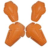 MagiDeal 2 Pairs D3O Motorbike Shoulder Elbow Knee Protector Insert Armour Pads for Jacket NEW