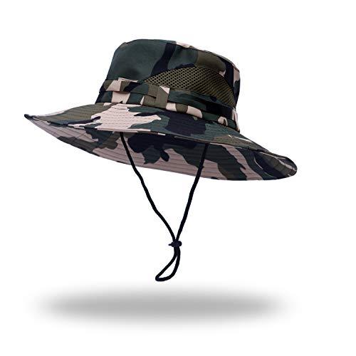Anleolife CP Amy Green Jungle Boonie Hat Travel Biking Boating Hiking Beach Vacation Bucket Cap - Boonie Hat Jungle