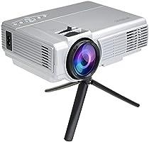 WiMiUS Projecteur lED, projecteur Full HD 3200Lumens 1080P LCD Projector portable Home Cinéma Théâtre Multimédia pour jouer Jeu Vidéo et ver Football films en maison