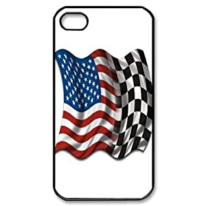 DIY Checkered Racing Iphone 4,4S Cover Case, Checkered Racing Personalized Phone Case for iPhone 4, iPhone 4s at Lzzcase WANGJING JINDA