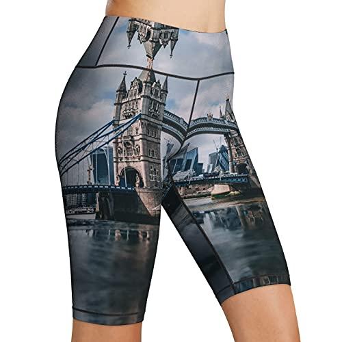 Inaayayi Hoge Taille Yoga Shorts Tower Bridge Panorama Engels Landmarks Skyline vrouwen Biker Shorts Yoga Workout…