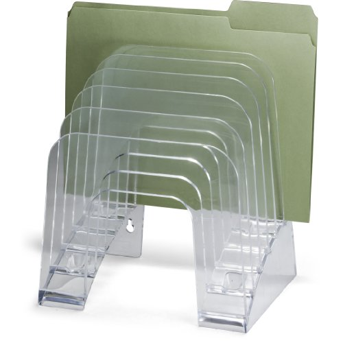 OfficemateOIC Jumbo Incline Sorter, 6 Compartment, Holds Letter and A4 Size, Clear (22934)