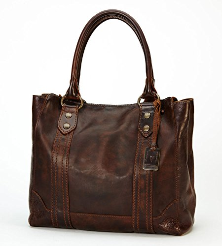 FRYE Melissa Tote,Dark Brown,One Size