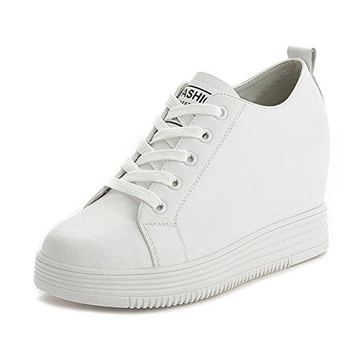Cybling Vrouwen Hoge Top Verborgen Schoenen Casual Lace Up Mode Sneakers