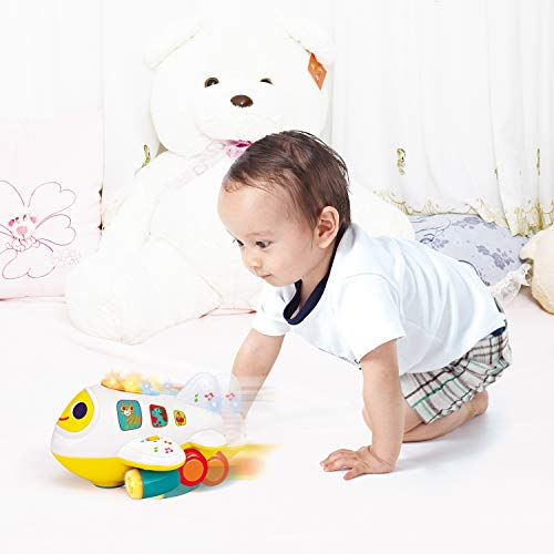 Zoostliss Baby Toys Electronic Airplane Toys with Lights & Music Best Kids Early Learning Educational Toys for Toddlers Boys and Girls