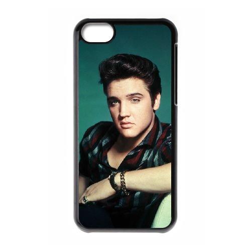 Elvis Presley 004 coque iPhone 5C Housse téléphone Noir de couverture de cas coque EOKXLLNCD16810