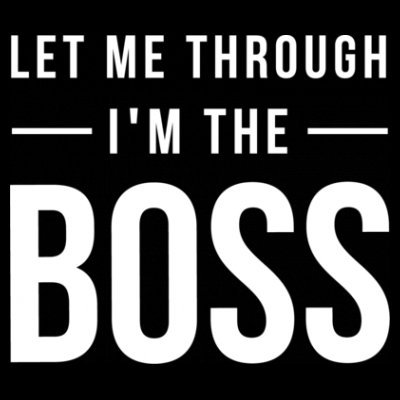 Sudadera con capucha de mujer Let Me Through I'm The Boss by Shirtcity Negro
